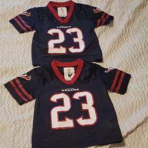Houston Texans jersey lot 2t twins